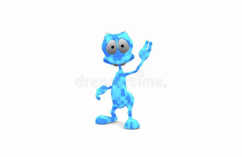 Estrangeiro azul dos desenhos animados ilustração royalty free