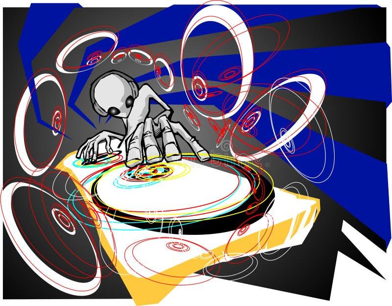 Estrangeiro DJ ilustração royalty free