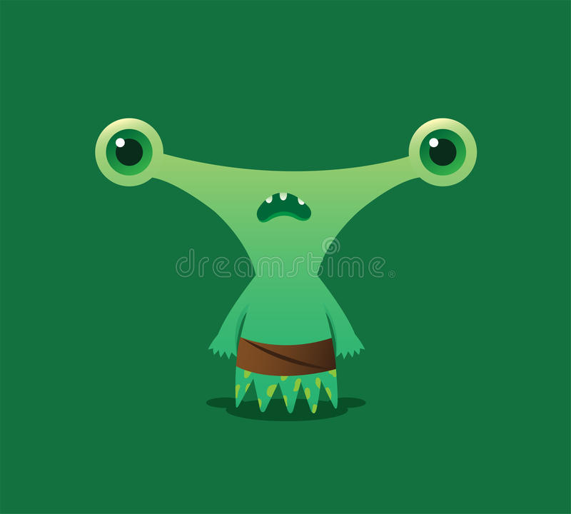 Estrangeiro verde bonito fotos de stock royalty free