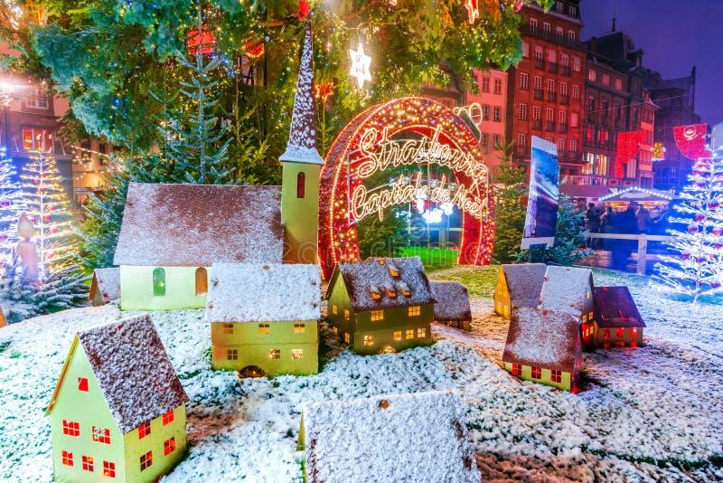 Estrasburgo, Alsacia, Francia - Capitale de Noel imagen de archivo