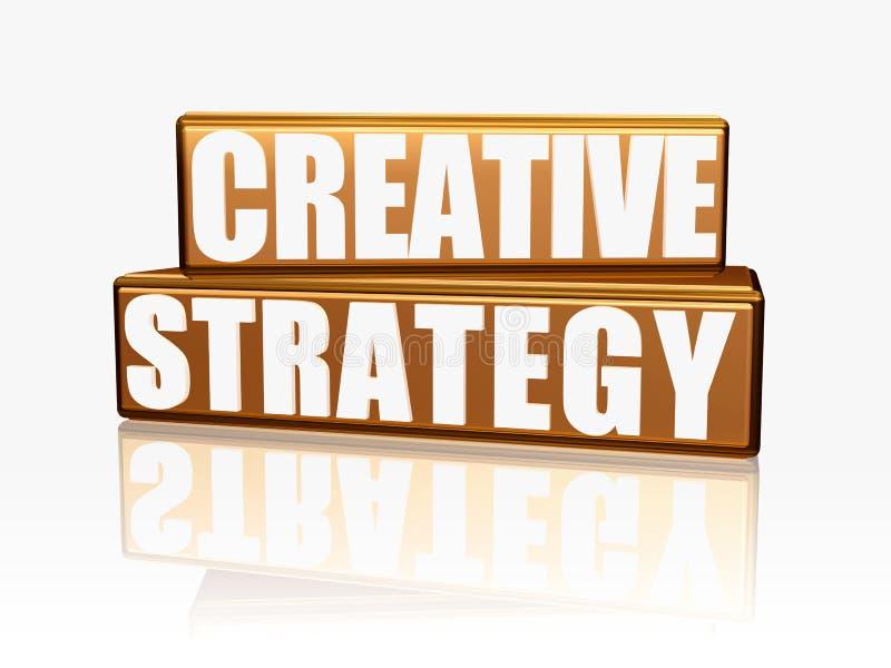 Estratégia creativa - blocos dourados ilustração royalty free