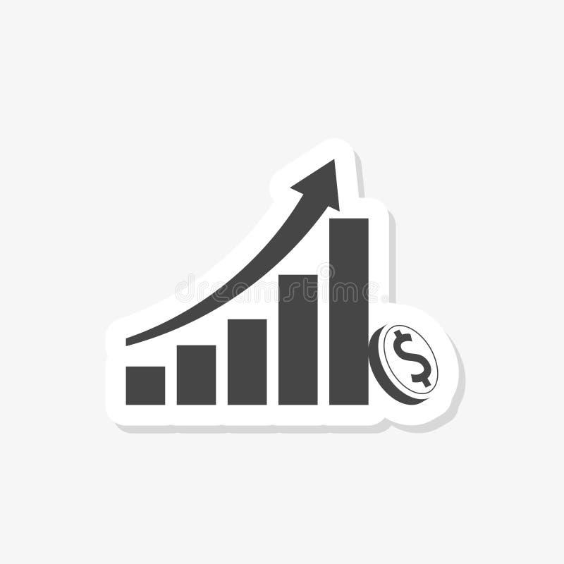 Estratégia de investimento a longo prazo, crescimento de renda, aumento de receita empresarial, retorno de investimento ilustração do vetor