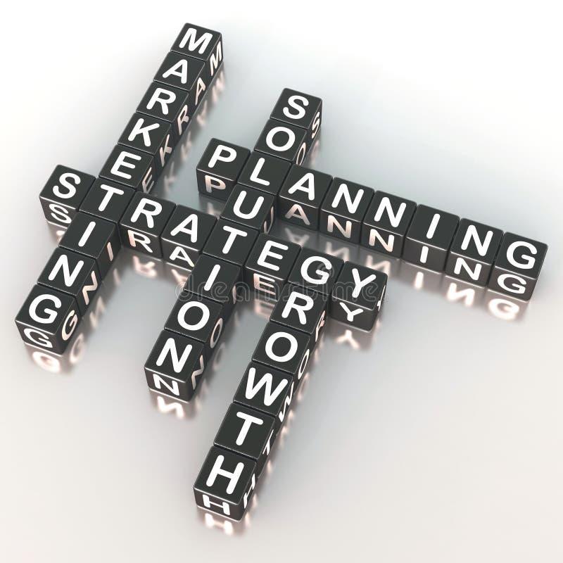Estratégia de marketing ilustração do vetor
