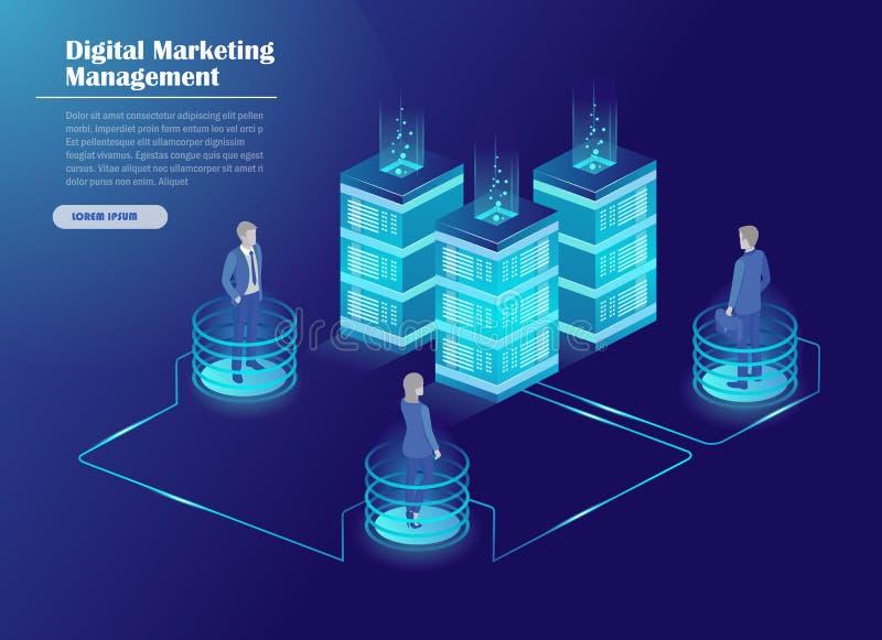 Estratégia de marketing de Digitas ilustração do vetor