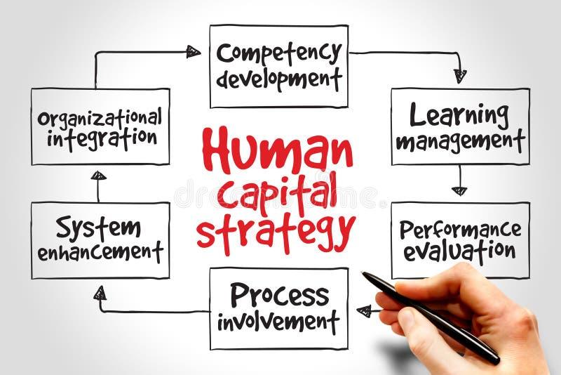 Estratégia do capital humano foto de stock royalty free