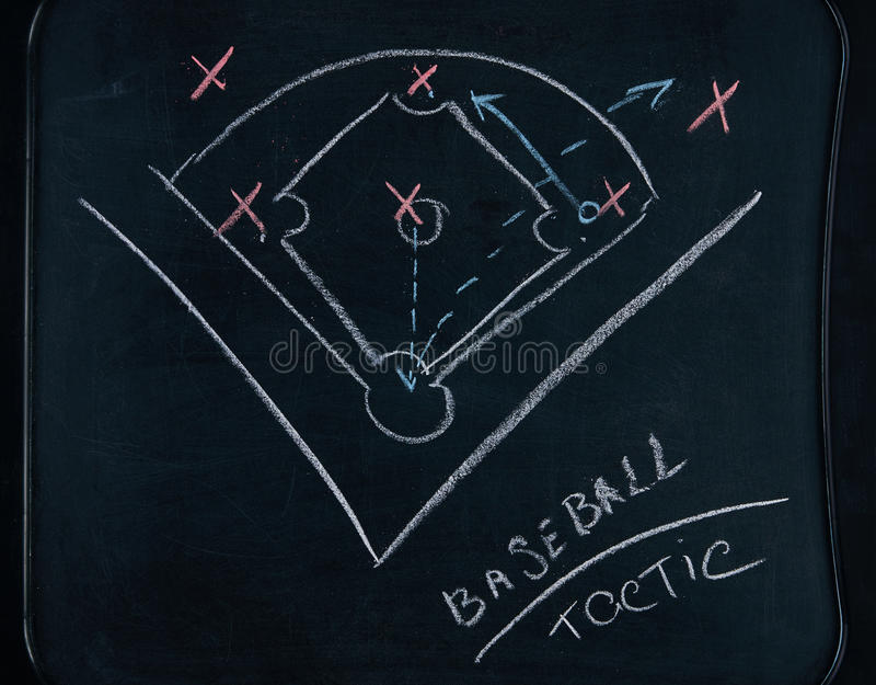 Estratégia do jogo de basebol foto de stock
