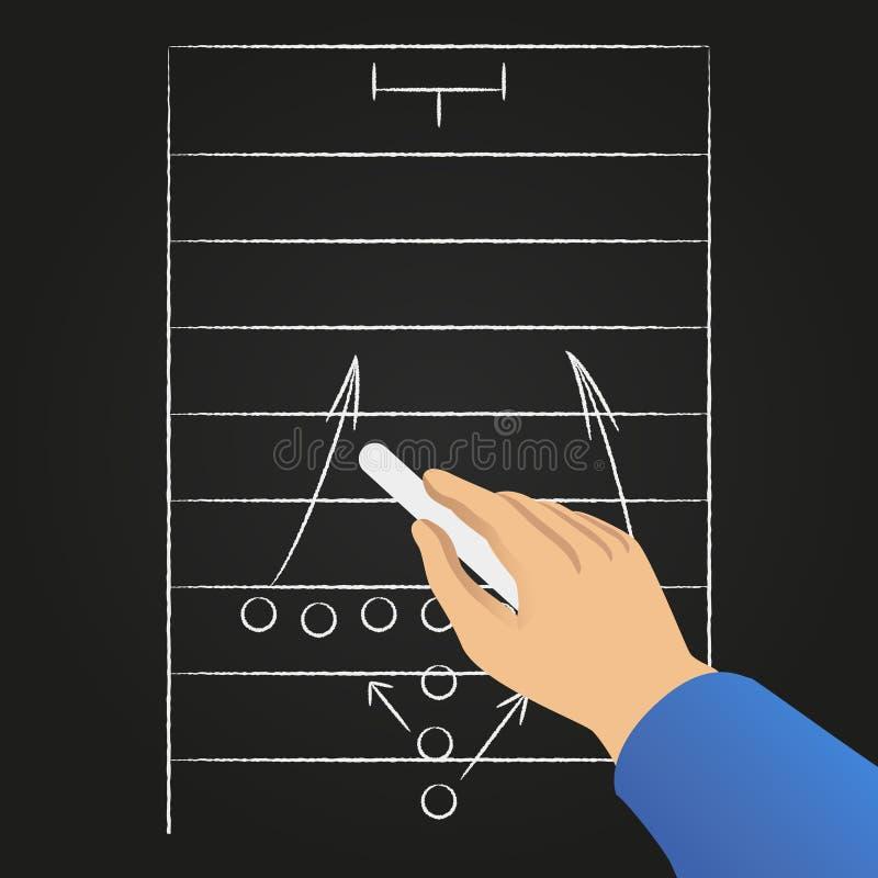 Estratégia do jogo de futebol do desenho da mão ilustração royalty free