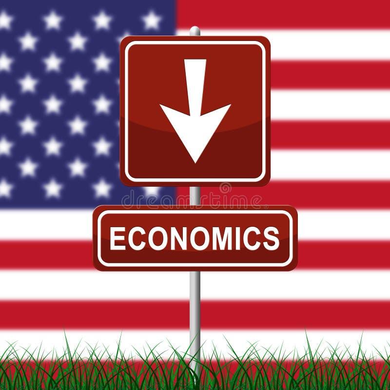 Estratégia do plano da economia do trunfo para o crescimento dos EUA - ilustração 3d ilustração royalty free