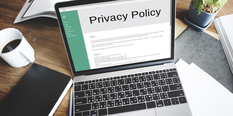 A estratégia do princípio da informação da política de privacidade ordena o conceito fotografia de stock royalty free