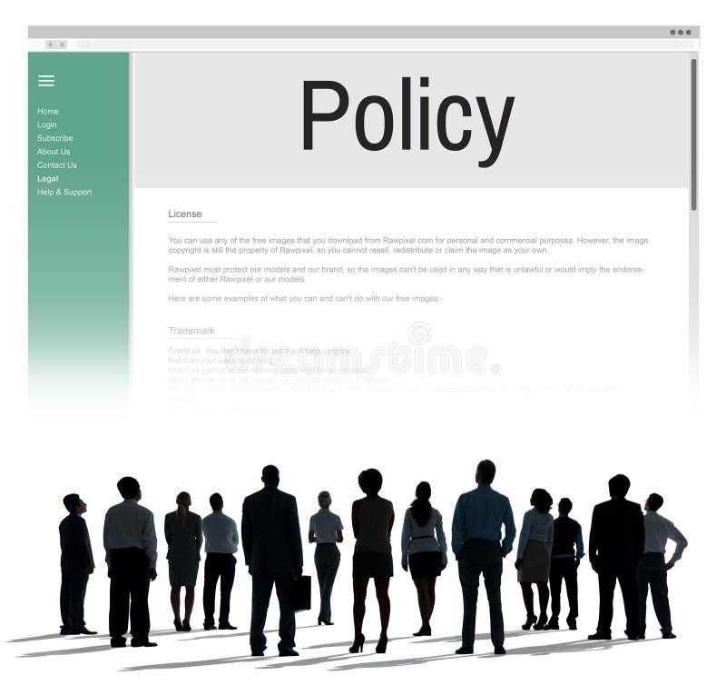 A estratégia do princípio da informação da política de privacidade ordena o conceito fotos de stock royalty free