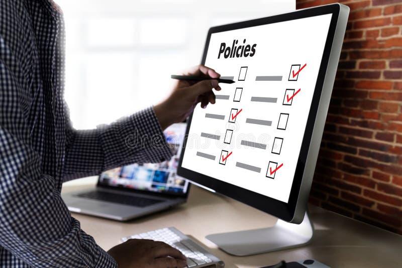 Estratégia do princípio da informação dos ajustes da política de privacidade das políticas fotografia de stock royalty free