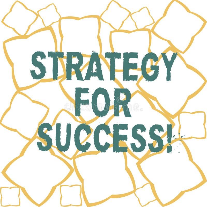 Estratégia do texto da escrita para o sucesso Plano do significado do conceito seguir para encontrar as tiras da fita do desafio  ilustração do vetor