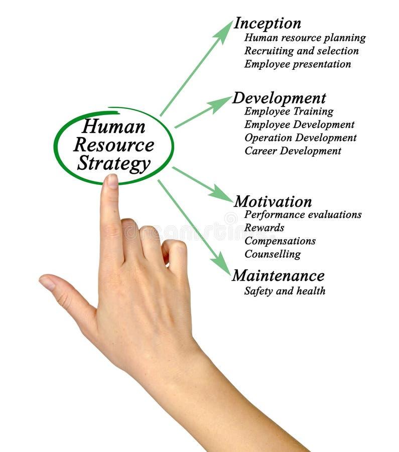 Estratégia dos recursos humanos ilustração do vetor