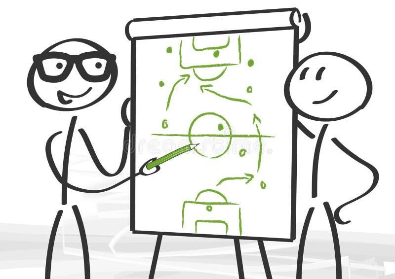 Estratégia e consulta ilustração do vetor