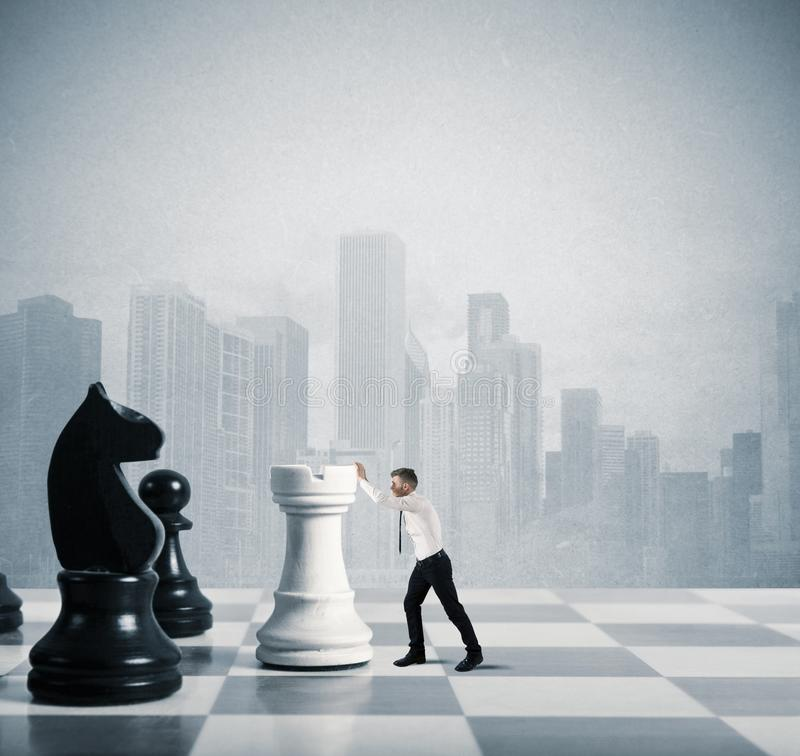 Estratégia e táticas no negócio fotografia de stock royalty free