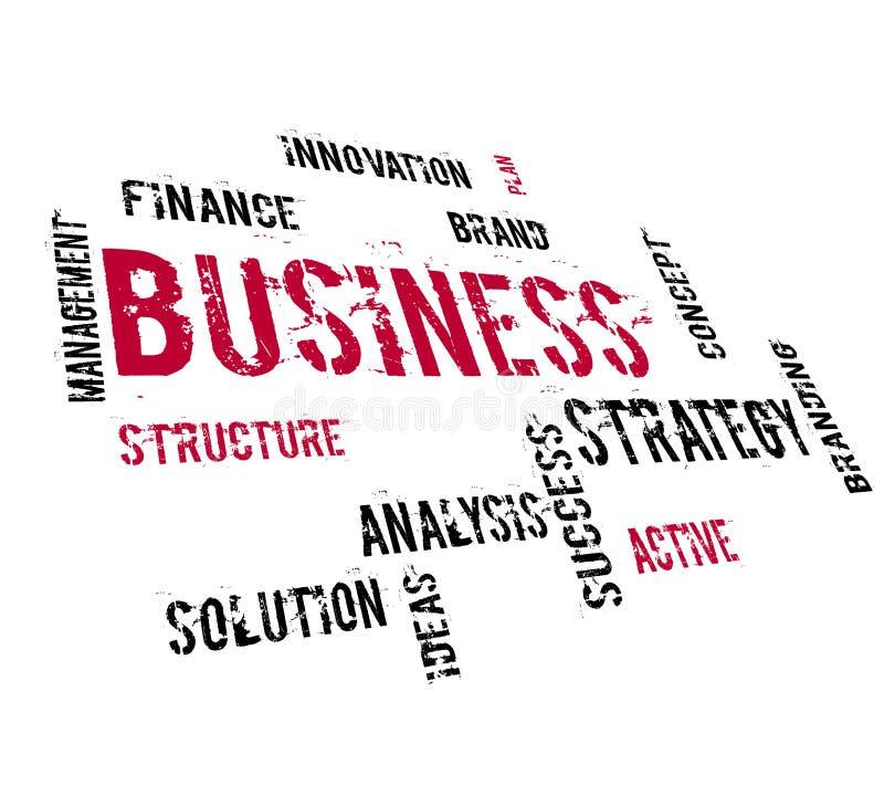 Estratégia empresarial ilustração stock
