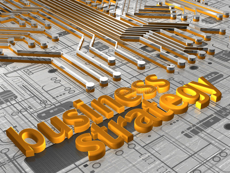 Estratégia empresarial - 3D ilustração royalty free