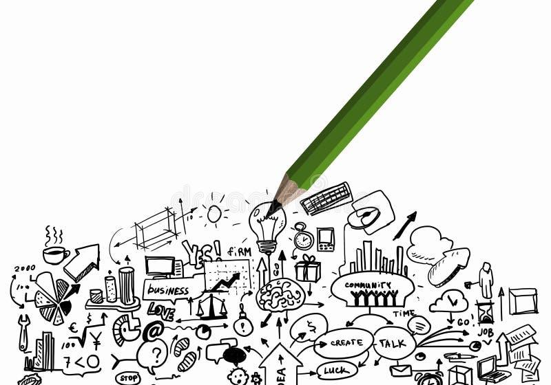 Estratégia empresarial ilustração royalty free