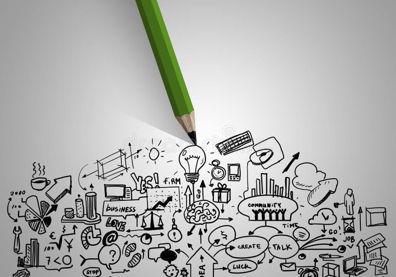 Estratégia empresarial ilustração do vetor