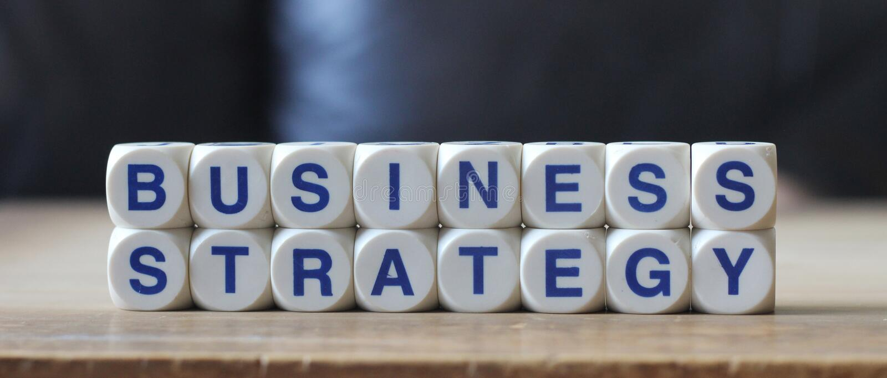 Estratégia empresarial fotos de stock
