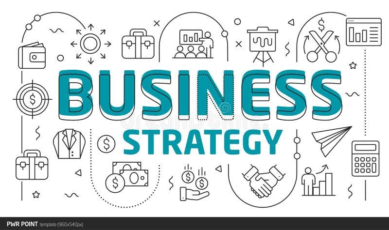 Estratégia empresarial do molde do ponto da ilustração das corrediças das linhas elétricas ilustração royalty free