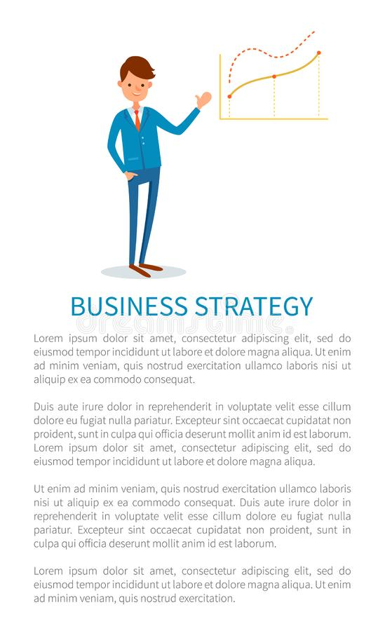 Estratégia empresarial, empregador que aponta em cartas ilustração royalty free