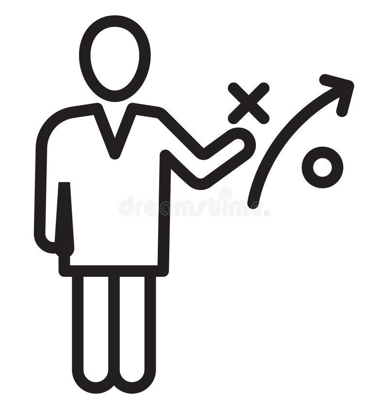 A estratégia empresarial, homem de negócios Isolated Vetora Icon pode ser facilmente edita e altera ilustração stock