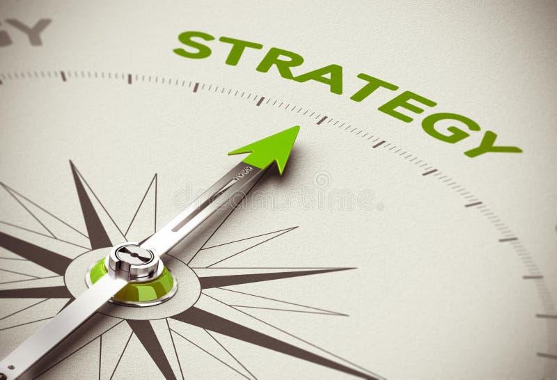 Estratégia empresarial verde ilustração royalty free