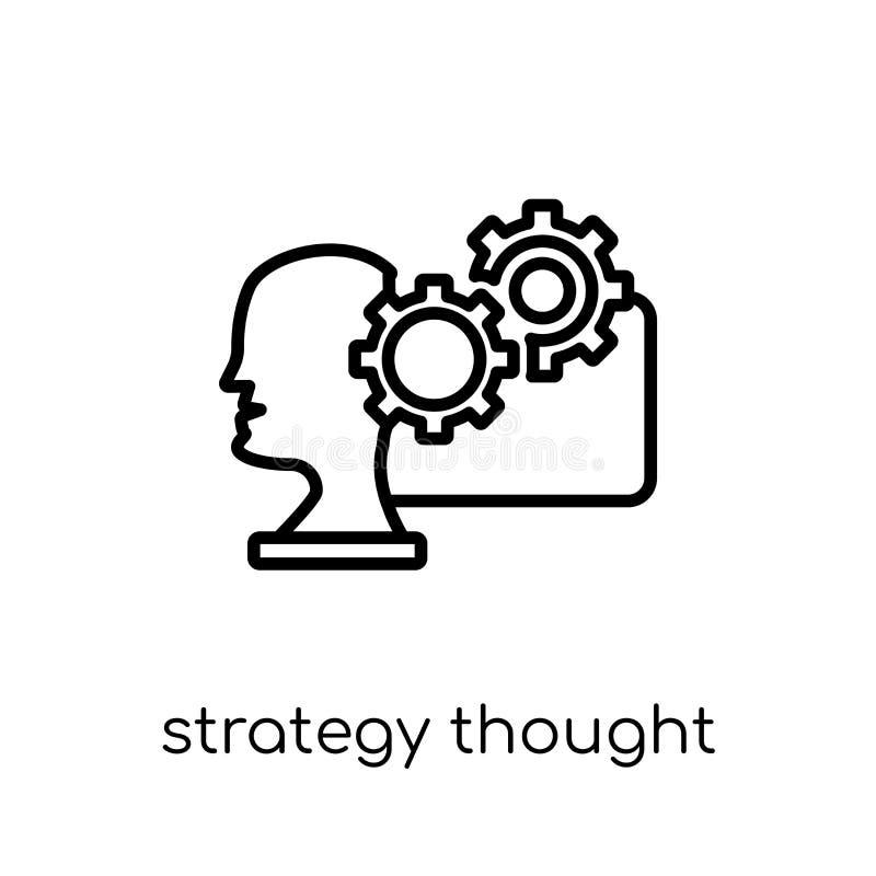 A estratégia pensou o ícone da coleção da estratégia 50 ilustração do vetor