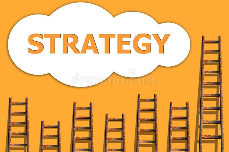 A estratégia poderia dentro, wordding sobre o sucesso do negócio ilustração stock