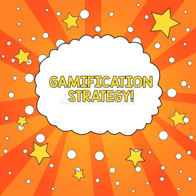 Estrat?gia de Gamification do texto da escrita da palavra O conceito do negócio para recompensas do uso para a motivação integra  ilustração do vetor