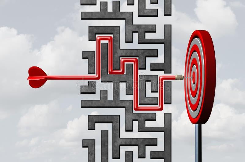Estrategia de la meta de negocio ilustración del vector