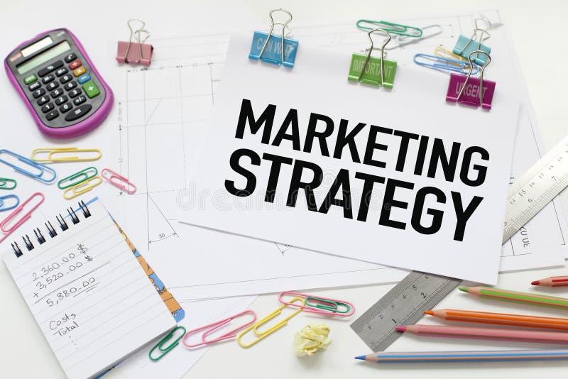 Estrategia de marketing foto de archivo libre de regalías