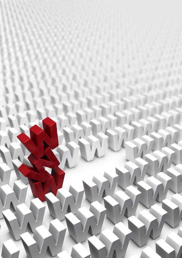 Estrategia de marketing en línea de Internet - Webmarketing ilustración del vector