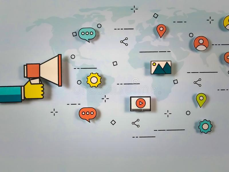 Estrategia de marketing global imágenes de archivo libres de regalías