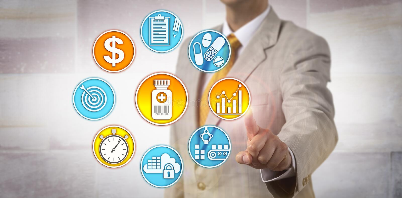 Estrategia de Setting Drug Pricing del fabricante imagen de archivo