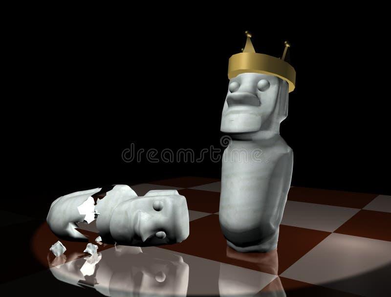 Estrategia del ajedrez stock de ilustración