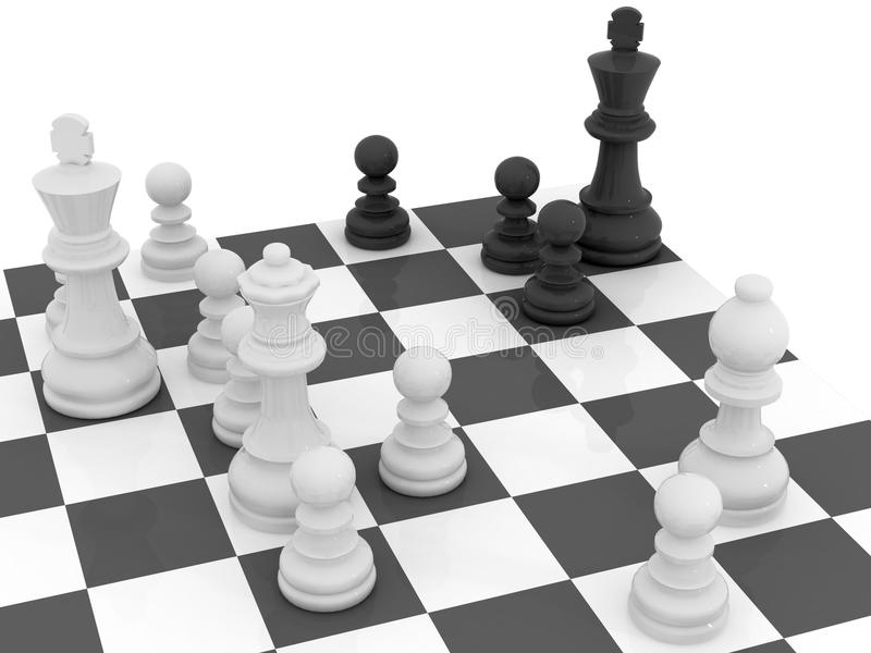 Estrategia del ajedrez ilustración del vector