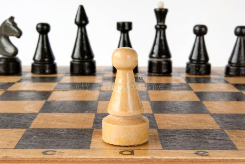 Estrategia del ajedrez imagen de archivo libre de regalías