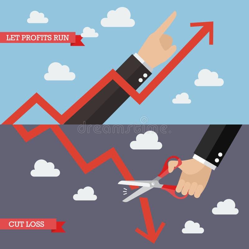 Estrategia del análisis técnico stock de ilustración