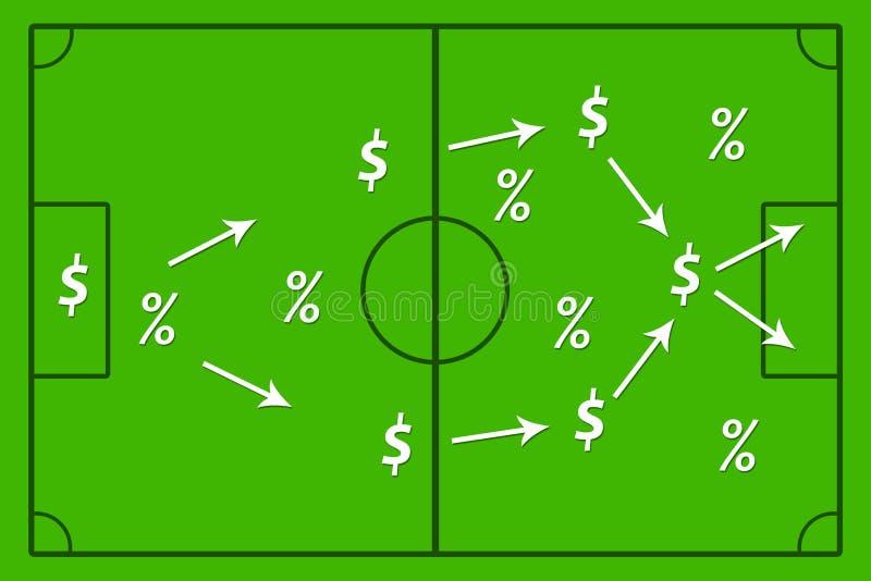 Estrategia del beneficio ilustración del vector