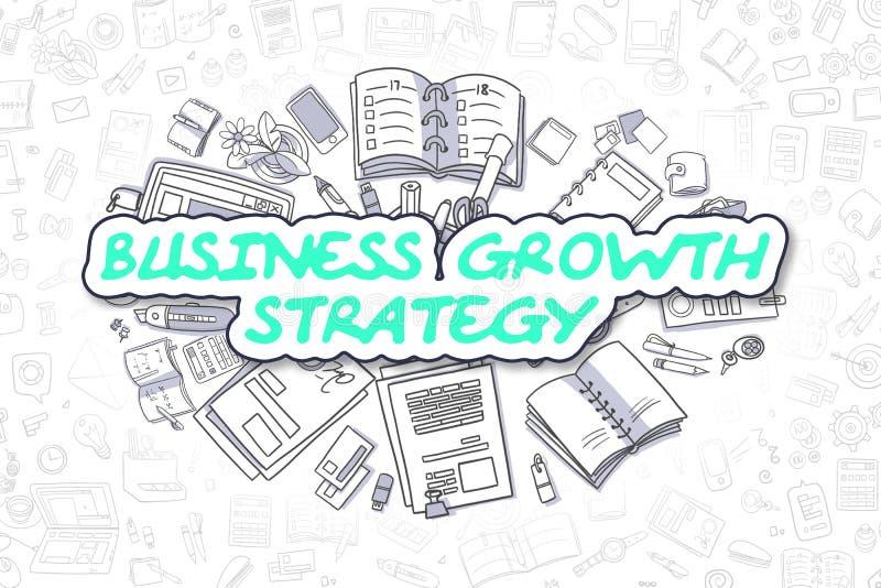 Estrategia del crecimiento del negocio - concepto del negocio stock de ilustración