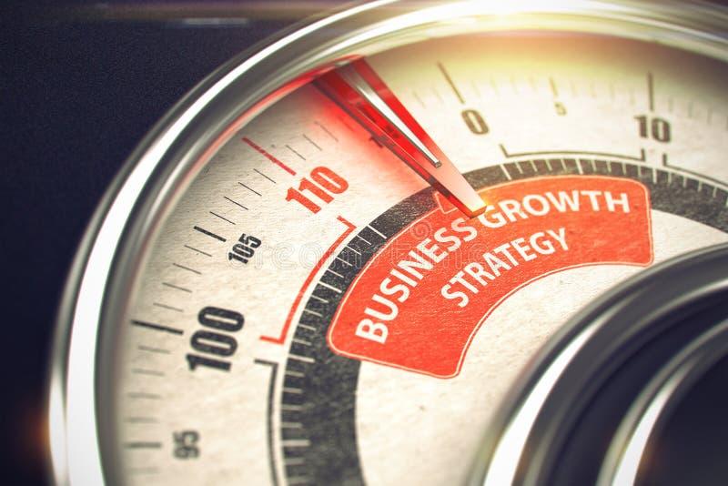 Estrategia del crecimiento del negocio - concepto del modo del negocio 3d ilustración del vector