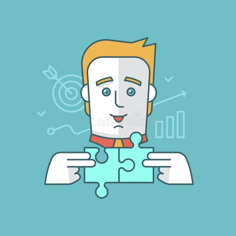 Estrategia del edificio stock de ilustración