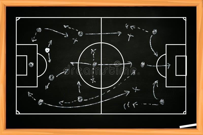 Estrategia del fútbol o del partido de fútbol imagen de archivo