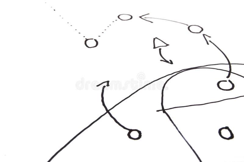 Estrategia del juego imagen de archivo
