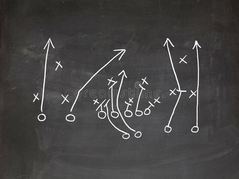 Estrategia del juego de Footbal foto de archivo libre de regalías