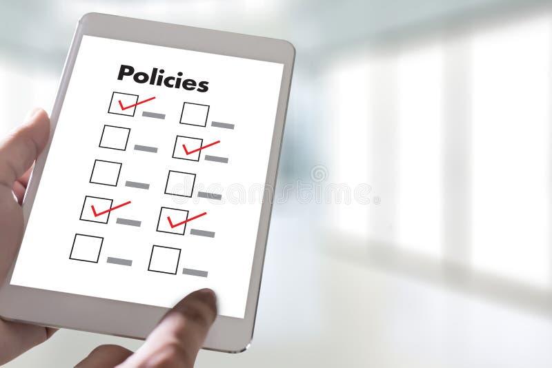Estrategia del principio de la información de los ajustes de la política de privacidad de las políticas stock de ilustración