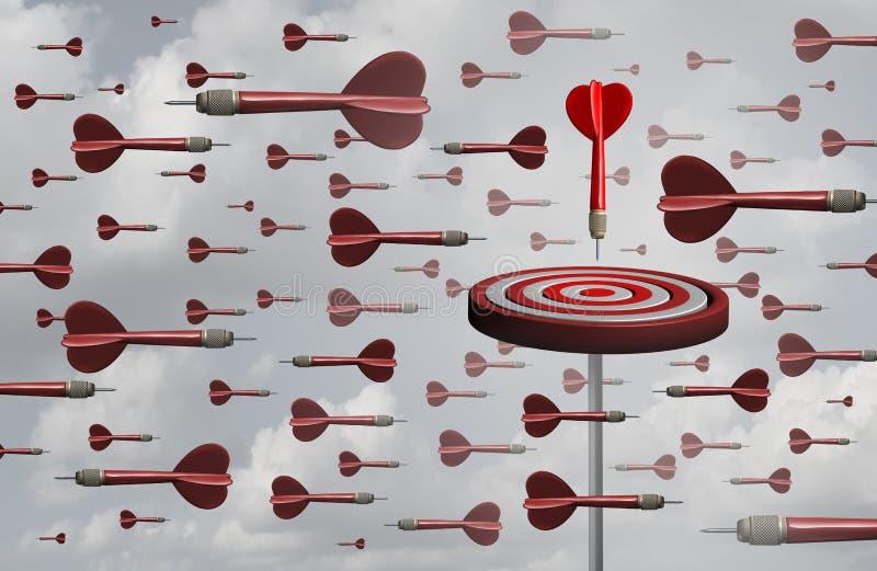 Estrategia eficaz de la meta ilustración del vector