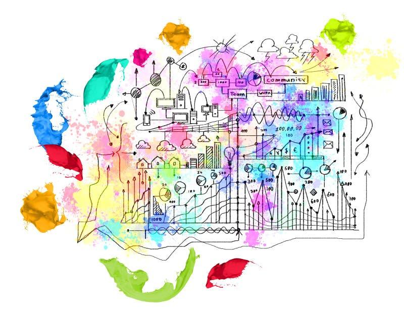 Estrategia empresarial stock de ilustración